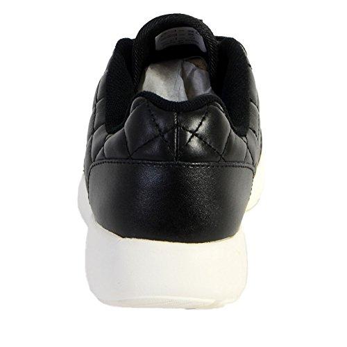 Schuhe Asfvlt Super Prenium Schwarz Black Quilted Noir