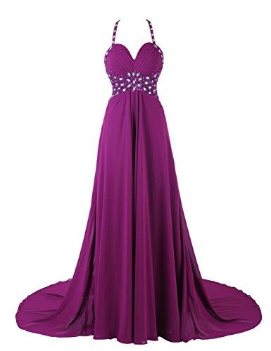 Dresstells, Robe de soirée de mariage/cérémonie/mère de mariée bretelles spaghetti forme empire traîne moyenne avec emperler sequins Bordeaux