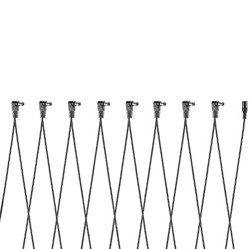 Neewer® Cavi con Connettori ad Angolo Retto a 8 Vie per Effetti a Pedale per Chitarra (Adattatore di Alimentazione e Pedali NON Inclusi)