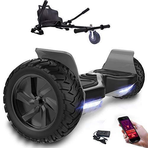 Hoverboard con ruote 8.5 pollici, inlude kart, Balance Board SUV Off-Road, 700W con app, Bluetooth e LED + Hoverkart