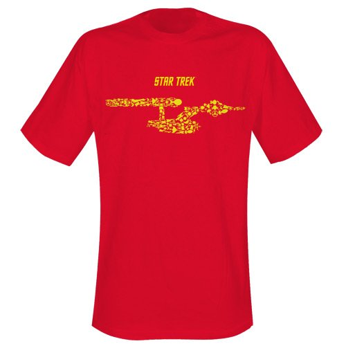 SHIPS OF THE LINE (RED)-STAR - Shirt Red Trek Star