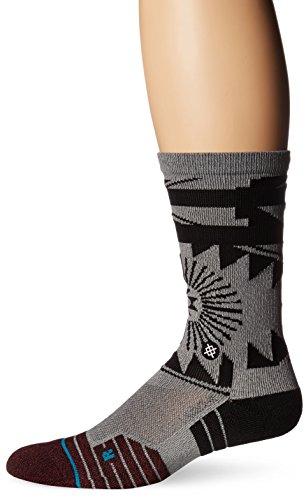 Stance Men's El Morro Crew Socks Gray L (Crew Sock Basketball 2 Pack)
