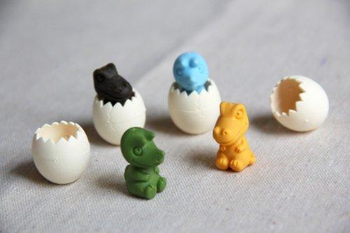 Iwako Baby dinasaur und Ei japanischen Radiergummis (4 Farben / Set)