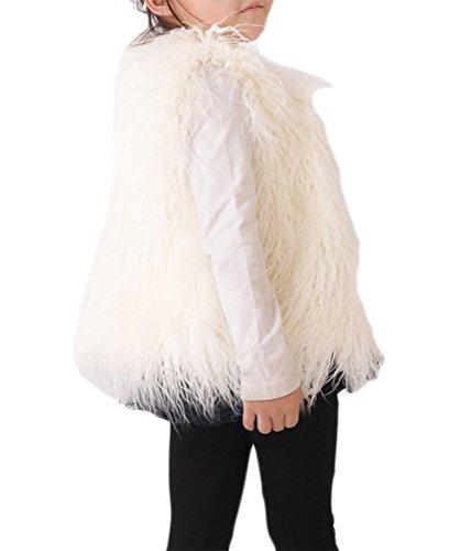 VLUNT Kinderjacken Mädchen Mantel Kunstpelz Winterjacke Baumwolle Mädchen Jacke