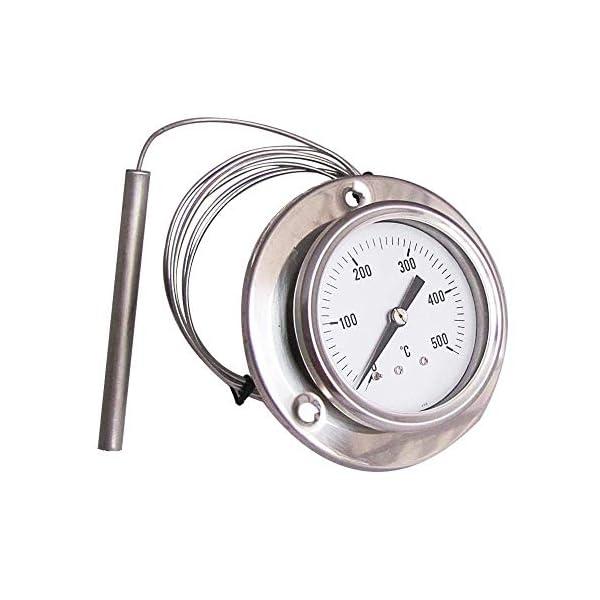 ConPush Termómetro Pirómetro de Horno Barbacoa 0-500° C Grados 160 cm de Longitud Flexible Sonda Barbacoa