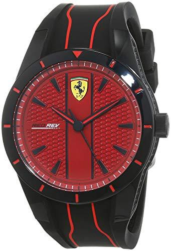 Scuderia Ferrari Orologio Analogico Quarzo Uomo con Cinturino in Silicone...