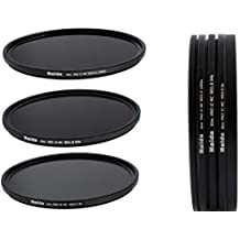 Conjunto de Filtros ND Extrem de Haida Serie Profesional Slim PRO II MC (de múltiples capas) 72mm - ND0.9 (8x), ND1.8 (64x), ND3.0 (1000x) - Hecho de Vidrio óptico de alta calidad incluido un contenedor de filtro