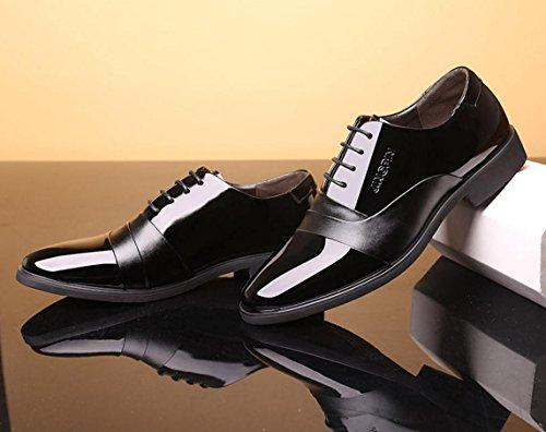 Männer Anzüge Schuhe / Business Spitz Lace / Hochzeit Schuhe / Neue Casual britischen Lackleder Herren Schuhe Black