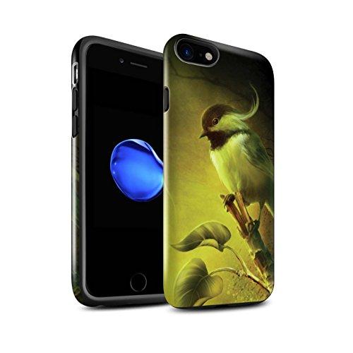 Officiel Elena Dudina Coque / Brillant Robuste Antichoc Etui pour Apple iPhone 8 / Carte Postale/Ruban Design / Les Oiseaux Collection Confiance