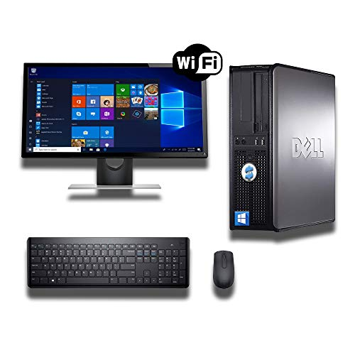 DELL OPTIPLEX 780 DESKTOP CORE 2 QUAD 2 5GHZ 8GB RAM 500GB HDD 22in MONITOR  WINDOWS 10 64BIT (Renewed)