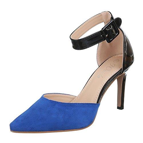 Ital-Design , chaussures compensées femme Bleu - Bleu