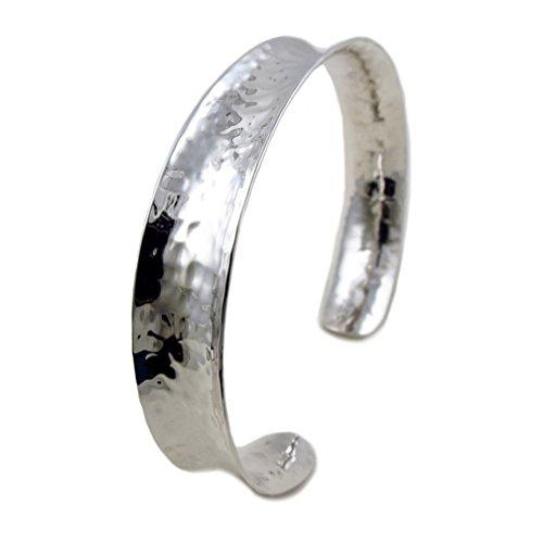 Offen Sterling-Silber 925, gehämmert, Armreif, 19 cm (Armreif 925)