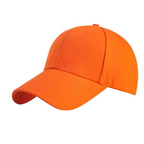 KDSANSO Unisex Baseballmützen Basecap Herren Damen Baseball Kappen zum Angeln Wandern Jagd,Orange
