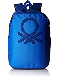United Colors of Benetton 23 Ltrs blue Casual Backpack(17A6BKPK0L13I)