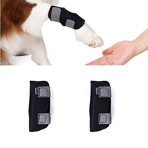 Tineer 2PCS Dog Brace Delantero Trasero Pierna Corta Envoltura de la Manga Protege Las heridas El Apoyo de la Mascota se Cura y previene Lesiones y Ayuda con esguince (S)