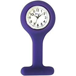 Ravel Purple Silicone Nurses Fob Watch R1103.7 (Infection Control)
