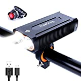 HUAYUU® USB Rechargeable Bike Light Set 2400 Lumens Bicycle Lights Front Cycling Headlight