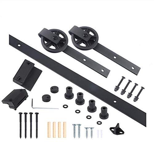 Kit-de-montaje-de-puerta-corredera-nica-estilo-granero-de-la-marca-Isasar-de-madera-negro