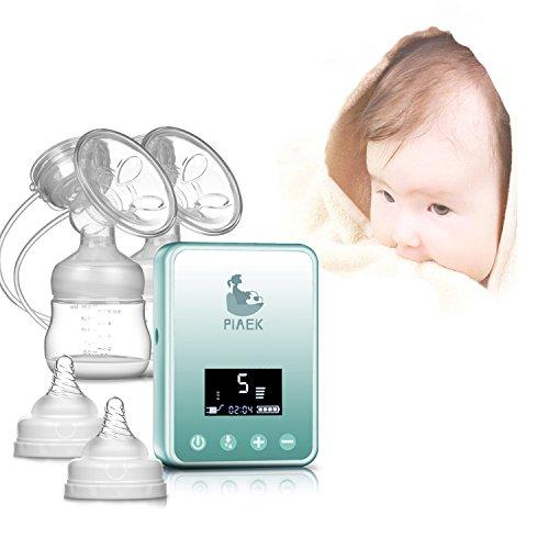 Bomba de lactancia doble eléctrica - Bomba de lactancia LCD sin dolor Mano libre