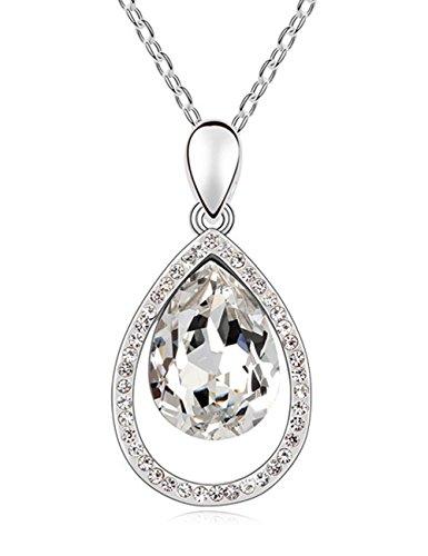 FANSING Schmuck Luxus Österreichischer Kristall Halskette Anhänger für Damen Mädchen (Und Kostüme Berühmten Mutter Tochter)
