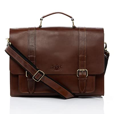 "SID & VAIN Serviette Ordinateur Cuir véritable 15"" Bristol Cartable Porte-Document attaché-Case Grand Homme Sac bandoulière Travail"