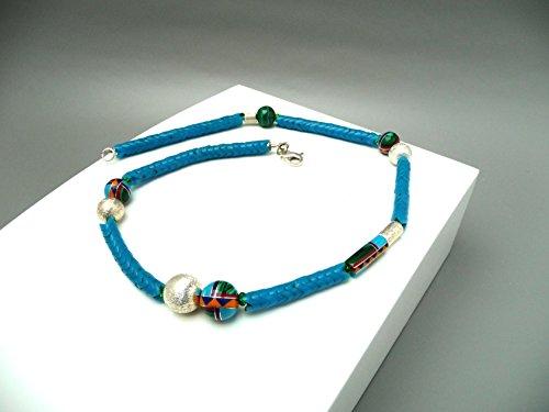 Halsschmuck Boho Antik Türkis Snake Perlenkette Unikat