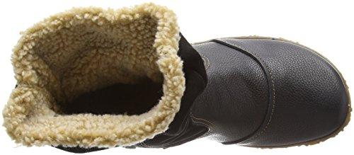 El Naturalista N758 Soft Grain-Lux Suede Wood / Nido, Stivali corti Donna Nero (Black)