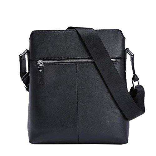 Yy.f Leder Herren Tasche Herren Rucksack Lässige Mode Aktentasche Business-Tasche Klassische Praktische Reisetasche Computer Tasche (schwarz Und Blau) Black