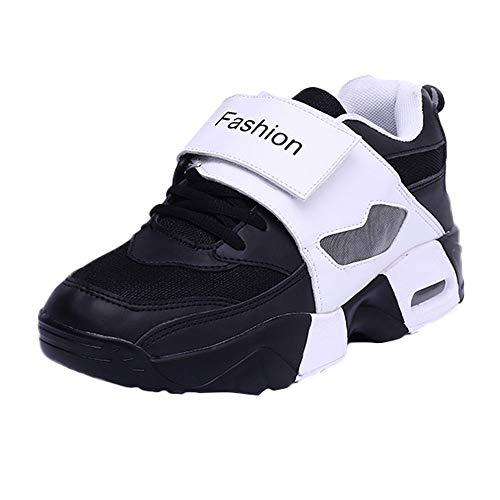 OSYARD Basket Mode Chaussure de Course Couple Femme Homme Lacets Competition Coure Sport Gym Sneaker Basket-Ball Shoes Noir 39 EU