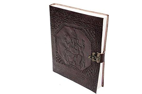 tuzech Pure echtem Vintage Leder Diary Leder Tagebuch handmadepaper Notebook Tagebuch für Office Home zu schreiben Gedicht Tägliche Update–Braun Größe der 25,4cm (Leder-finish Distressed Braun)