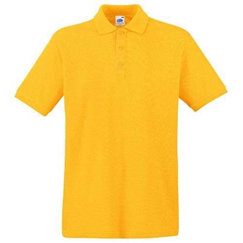 Fruit Of The Loom Herren Pique Polo Shirt SS5 Premium Gelb - sunflower