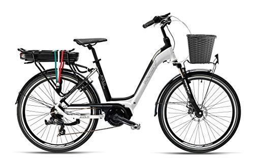 """Armony Jesolo, Bicicletta Elettrica Unisex Adulto, Bianco Nero, 26\"""""""