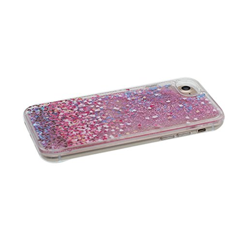 """iPhone 6 Coque, iPhone 6s étui Cover 4.7"""", [Bling Glitter Fluide Liquide Sparkles Sables Flamant] iPhone 6 Case Shell (4.7""""), anti- chocs & ring Support # 5"""