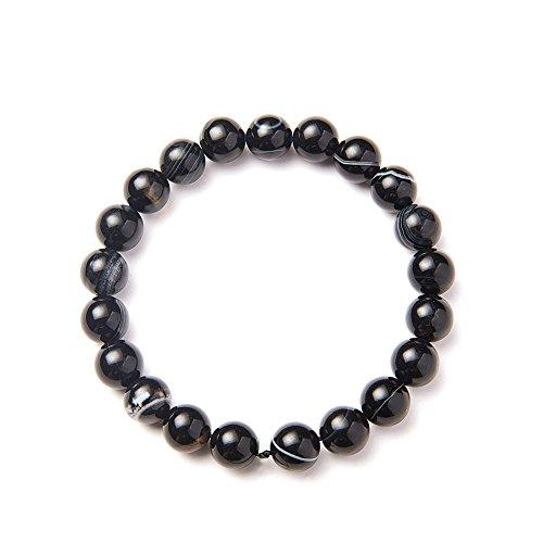 SUNNYCLUE schwarze nazar boncuk natürliche auge agate drittes auge stretch armbänder 8mm über 7' Unisex