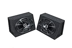"Atrend 6x9proz Bbox Series 6""x9"" Speaker Enclosure Box Pair With Oz Coaxial Speakers, Ozv69cx"