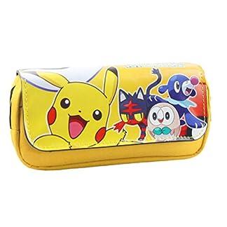 Neceseres Pikachu doble funda de lápices con cremallera funda de lápices Pokémon