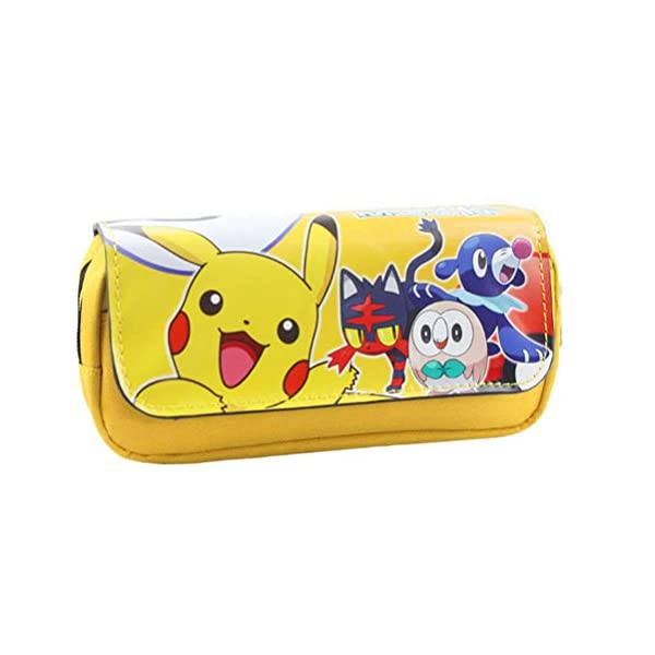 Neceseres Pikachu doble funda de lápices con cremallera funda de lápices