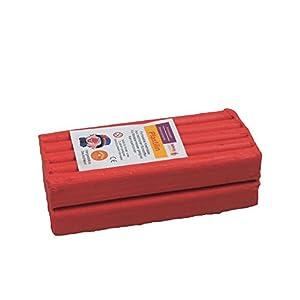 Stellwag 100235-de modelar Plastilin, 1000g, Color Rojo