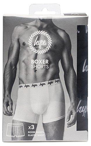 HYPE Herren Boxershort, Einfarbig Schwarz schwarz Schwarz
