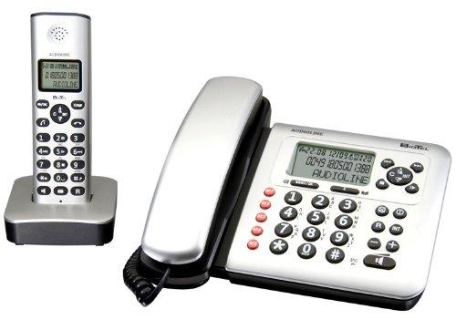 Audioline Bigtel 380 Combo Schnurlostelefon mit Anrufbeantworter (DECT)