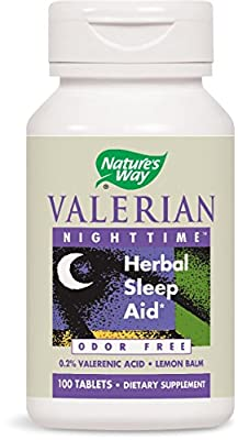 Nature's Way, Valerian Nighttime, Odour Free, 100 Tablets from Nature's Way