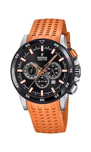 Festina Herren Chronograph Quarz Smart Watch Armbanduhr mit Silikon Armband F20353/6