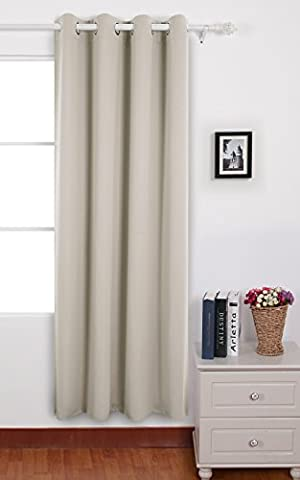 Deconovo Eyelet Window Curtain Solid Thermal Insulated Blackout Curtain for