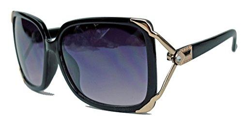 damen-sonnenbrille-retro-square-frame-bugel-gold-verziert-glitzerstein-designer-look-jk19-schwarz