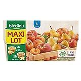 Blédina 12 Coupelles Fruits - 6 Fruits du Verger/6 Pommes Poires Vanille dès 6 mois