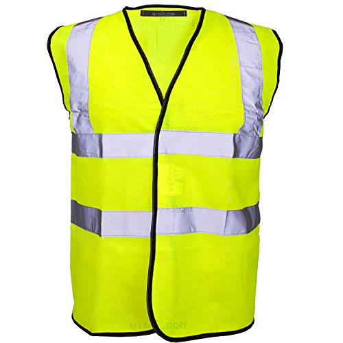 14e2ebf7520 MyShoeStore® Hi Vis Vest Yellow   Orange Small to 6XL 2 Band   Brace (