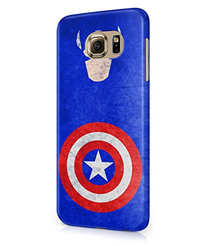 Captain America The Avenger Shield Marvel Heroes Grunge Plastic Snap-On Case Cover Shell For Samsung Galaxy S6