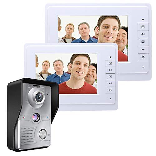 Intelligente Video-Türsprechanlage Video Intercom Türklingel Kit 7 Zoll TFT Touchscreen HD Weitwinkel Nachtsicht Infrarot-Überwachungskamera Wireless WiFi Home Security Peephole Monitoring Regenschutz -