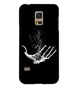 PRINTSWAG HAND WITH SMOKE Designer Back Cover Case for SAMSUNG GALAXY S5 MINI
