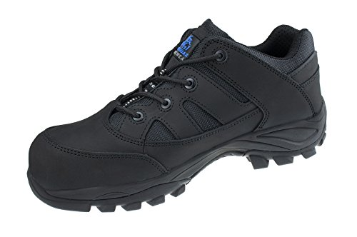Steel Toe Oxford Schuhe (Ultralight Premium Tainers Mens Safety Boots Shoes Leather w/Steel Toe Cap, Puncture Resistant Midsole & Padded Ankle Support for extra Comfort- Work, Hiking,Sport, Construction, Road Workers, Bikers)
